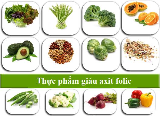 1. Bổ sung từ các thực phẩm giàu axit folic 1