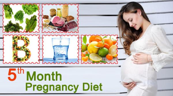 Mang thai tháng thứ 5 - Bà bầu nên ăn gì và không nên ăn gì?