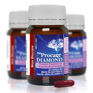 Thành phần của thuốc bổ bà bầu PM Procare Diamond 1