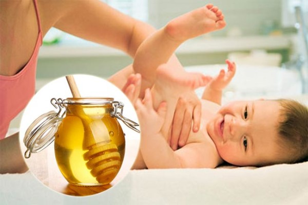 Chữa táo bón cho trẻ sơ sinh bằng mật ong 1